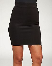 Fitted Black Mini Skirt