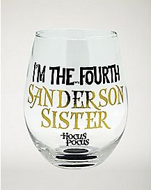 Fourth Sanderson Sister Stemless Glass 22 oz. - Hocus Pocus