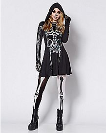 Skeleton Hooded Dress