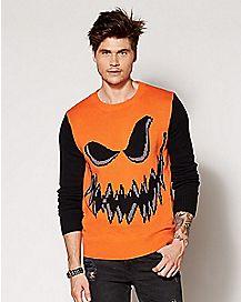 Adult Jack O'Lantern Sweater