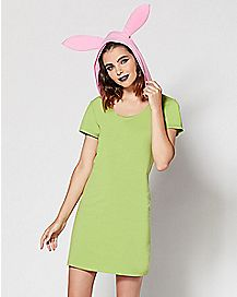 Adult Hooded Louise Costume - Bob's Burgers