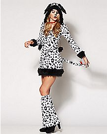 Adult Faux Fur Dalmatian Darling Costume