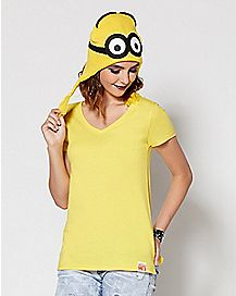 Adult Minion V Neck T Shirt - Despicable Me