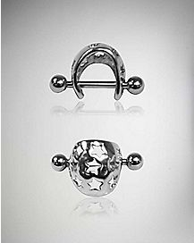 Star Cartilage Cuff Earring 2 Pack - 18 Gauge