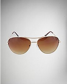 Aviator Sunglasses- Gold