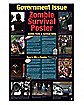 'Government Issue Zombie Survival Poster' Poster