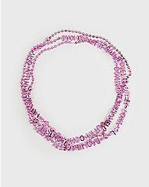 Bachelorette Party Bead Necklaces - 3 Pack