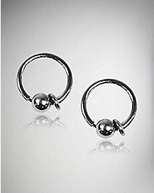 Fake Captive Hoop Nose Ring 2 Pack