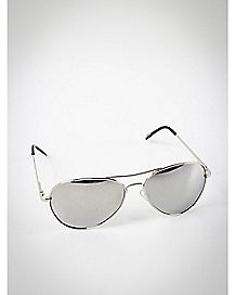 Aviator Sunglasses- Silver