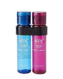 KY Yours And Mine Water-Based Lubricant 2 Pack