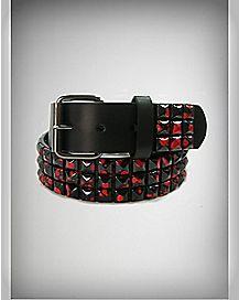 Blood Drip Studded Belt
