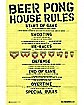 'Beer Pong House Rules' Poster
