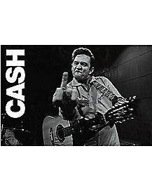 Middle Finger Johnny Cash Poster