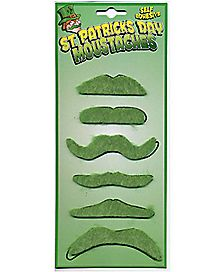St Patricks Green Mustaches
