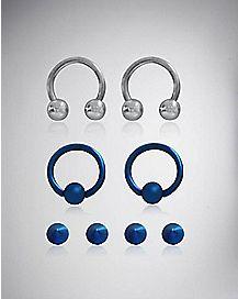 16 Gauge Blue Captive, Horseshoe & Stud Set