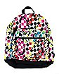 Yak Pak White Splatter Check Deluxe Backpack