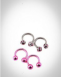 16 Gauge Anodized and Bling Horseshoe 4-Pack