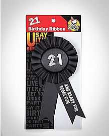 21 And Ready For Some Fun Ribbon Pin