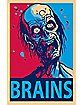 Zombie 'Brains' Poster
