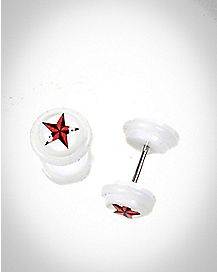 Fake Nautical Star Plug 2 Pack