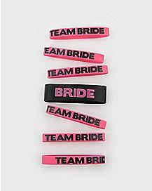 'Team Bride' Rubber Bracelets 7 Pk