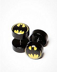 DC Comics Batman Logo Fake Plug 2 Pack