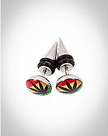 Rasta Leaf Fake Taper Set