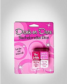 Bachelorette 'Drink or Dare' Dice Game