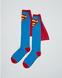 Caped Superman  Knee High Socks