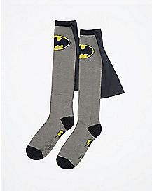 Caped Batman Knee High Socks