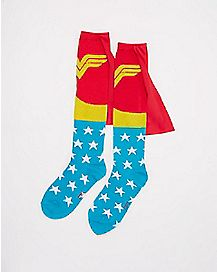 Caped Wonder Woman Knee High Socks