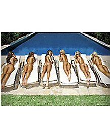 Girls By the Pool Poster