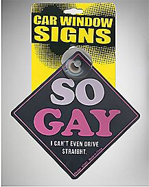So Gay I Cant Even Drive Straight Car Sign