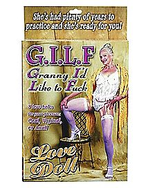 G.I.L.F. Granny I'd Like to Fuck Blow Up Love Doll