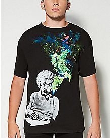 Smoking Einstein T shirt