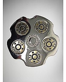 Gun Barrel Belt Buckle Silver