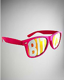 'Bitch' Pink Sunglasses