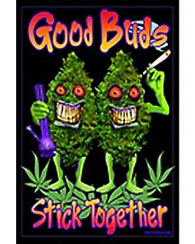 Good Buds Stick Together Blacklight Poster