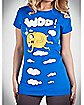Adventure Time 'Woo!' Junior Fitted Tee