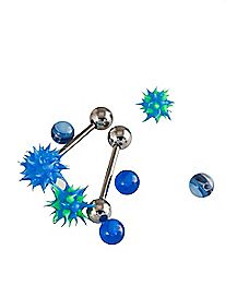 Blue Koosh Barbells Set - 14 Gauge