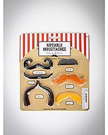 Notable Mustache Classic Edition 6 Pk