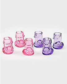 Pecker Bachelorette Shot Glasses - 6 Pack