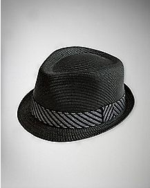 Striped Band Fedora