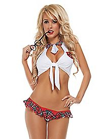Seductive School Girl Bedroom Costume