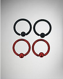 16G Black & Red Anodized Captive 4-Pack