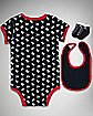 Infant 'Rebel' Snapsuit, Sock & Bib Set 3-Piece