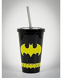 Batman Cup with Straw 16 oz. - DC Comics