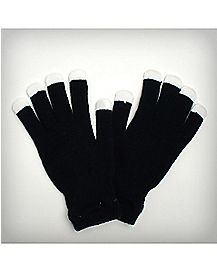 Black LED Light-Up Gloves