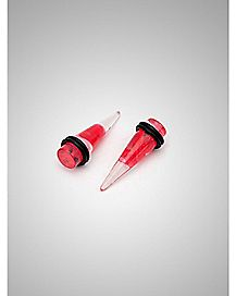 Red Marble Stretcher Taper Plug 2 Pack
