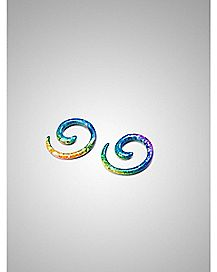 Rainbow Spiral Stretcher Taper Plug 2 Pack